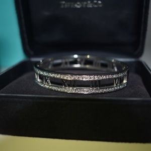 SOLD Tiffany & Co Diamond Atlas Bangle